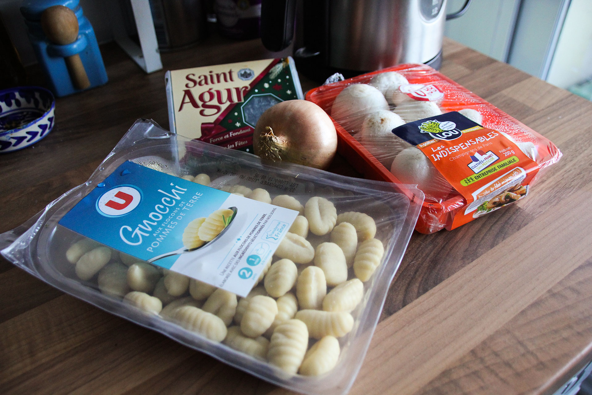 Gnocchi with Blue Cheese Ingredients