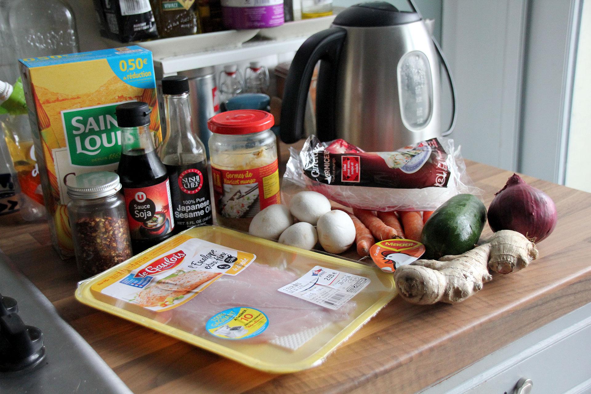 Jimmy's chilli chicken ramen noodles ingredients