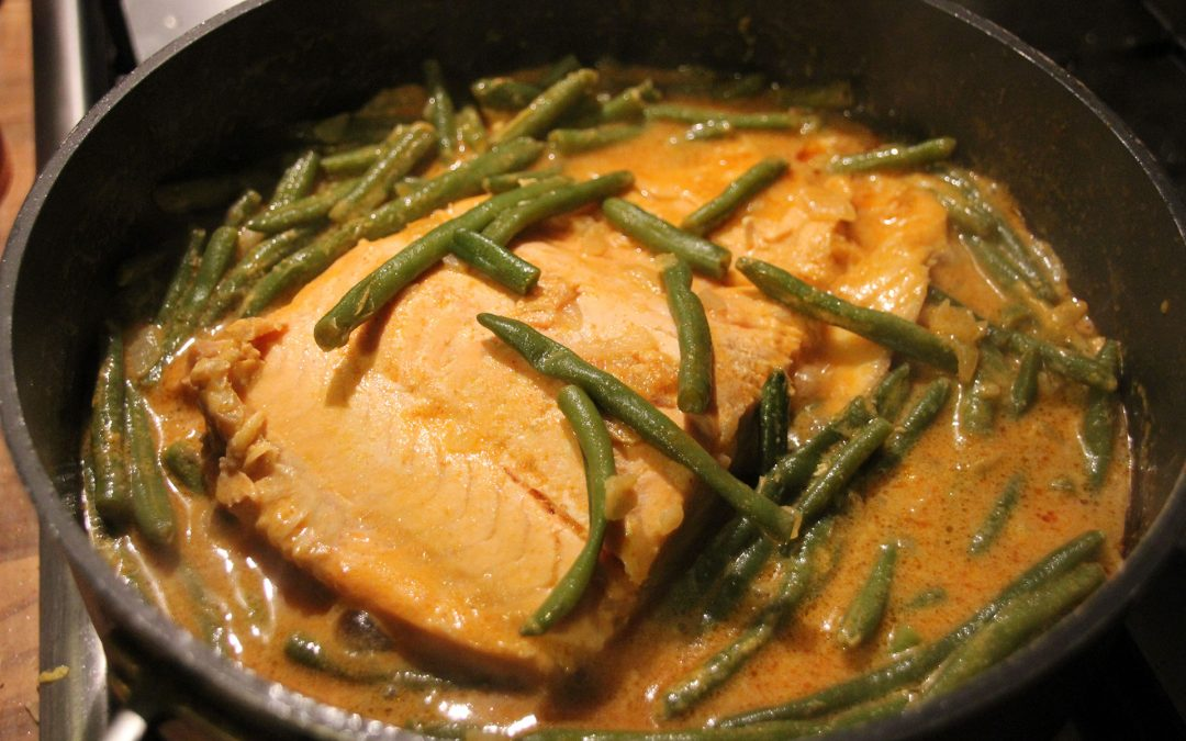 Jimmys Red Thai Salmon Curry