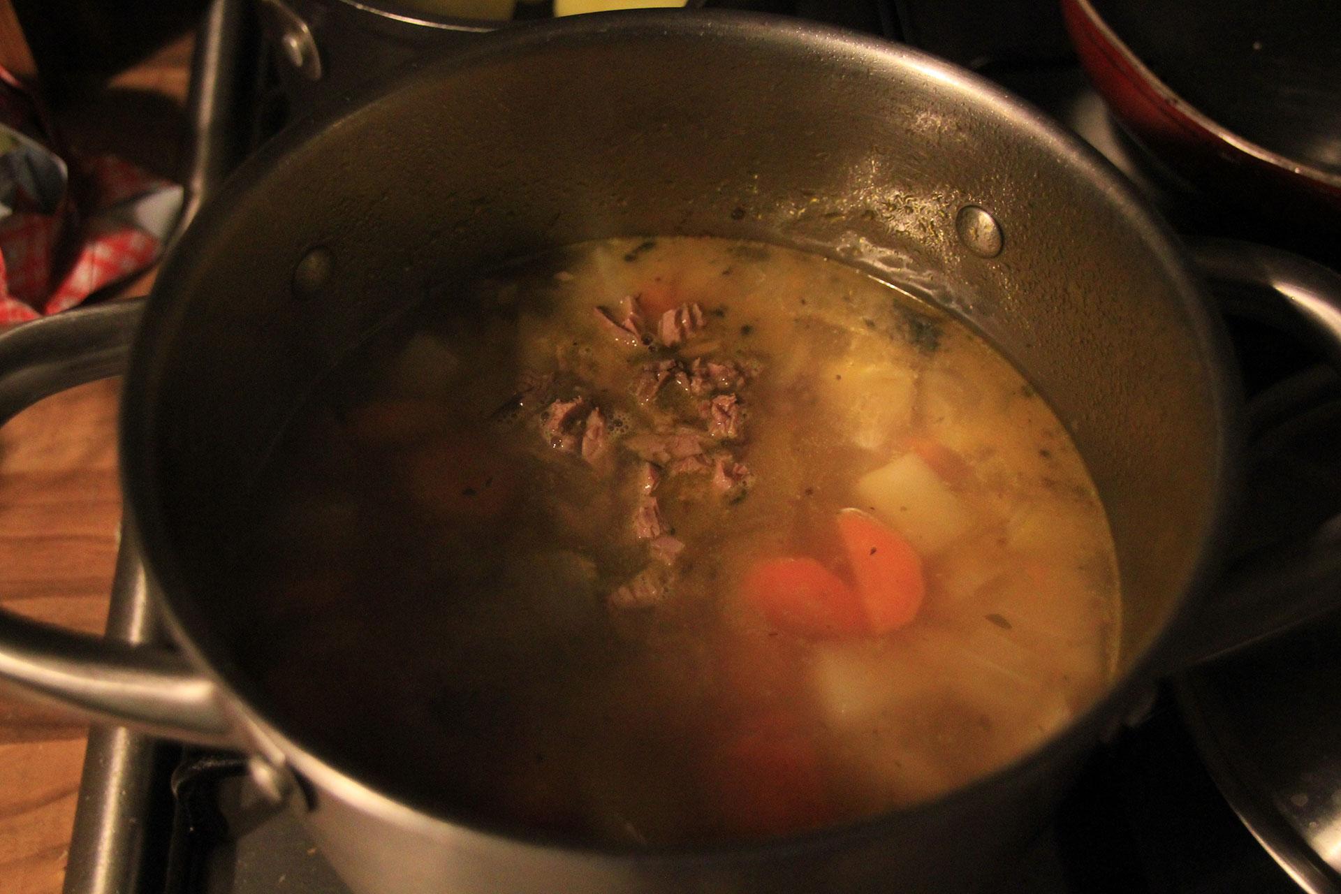 Meaty soup