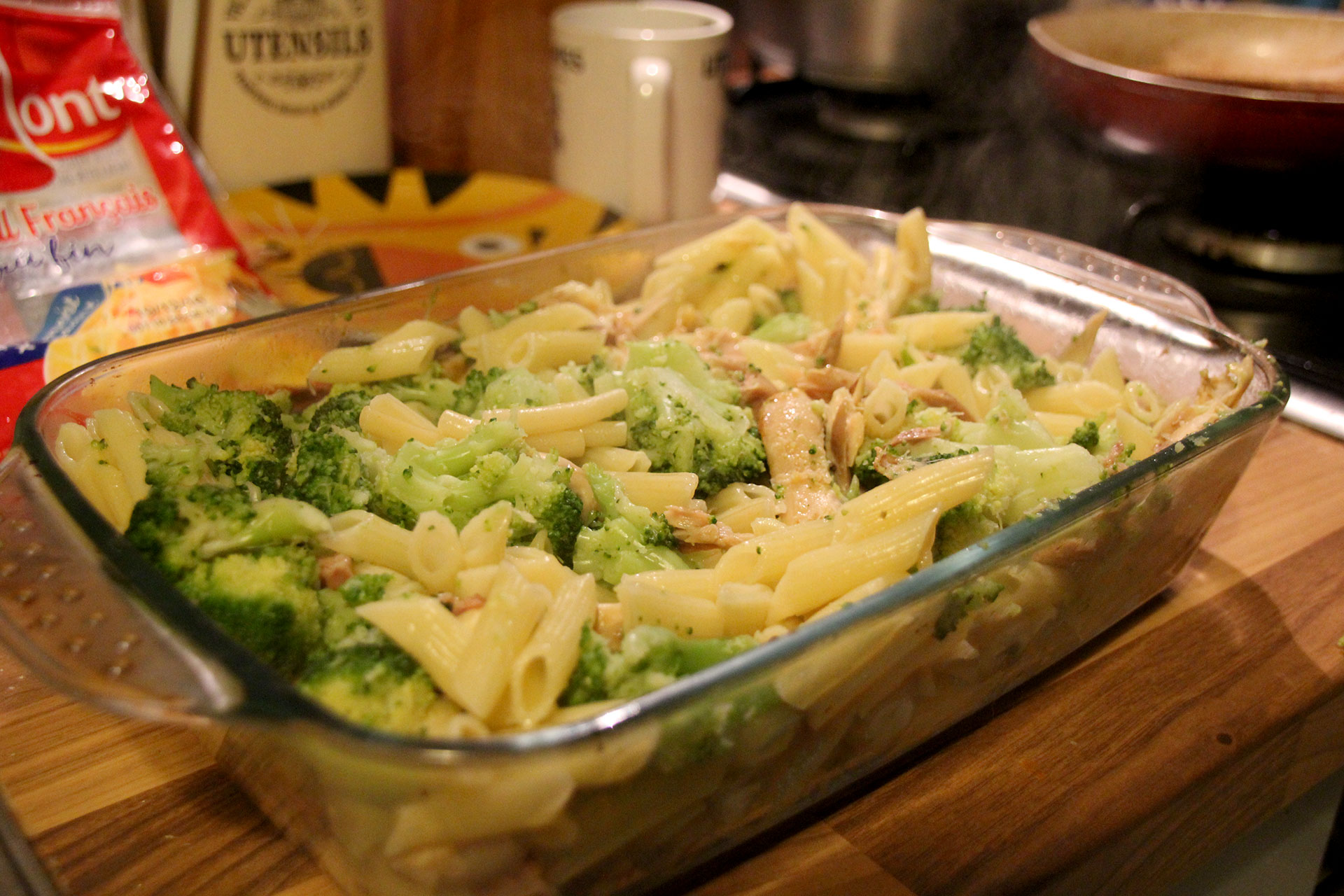 Pasta bake without the bechamel