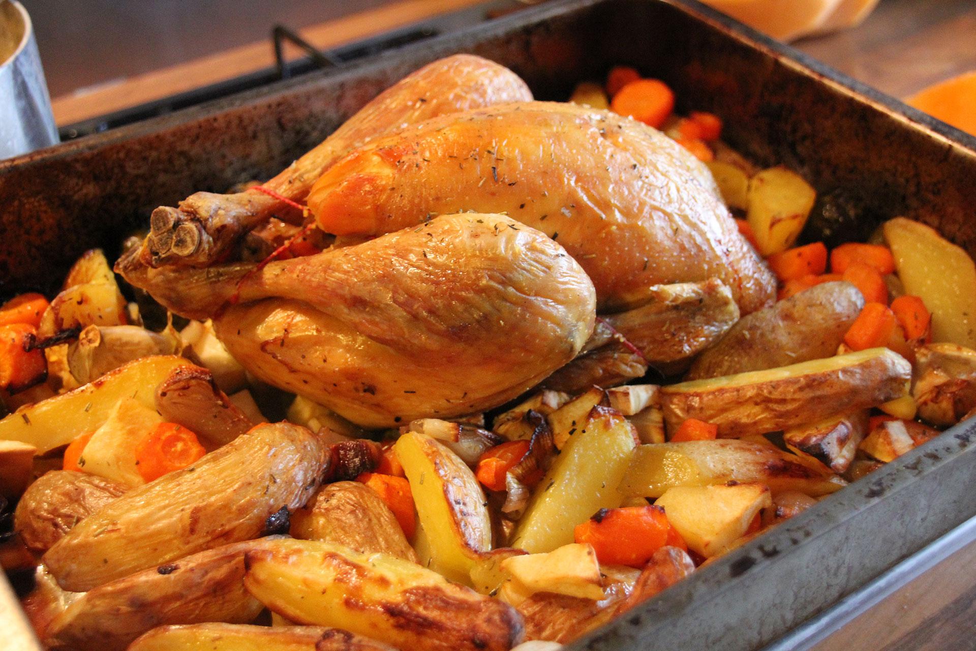 Roast chicken and Winter Veg