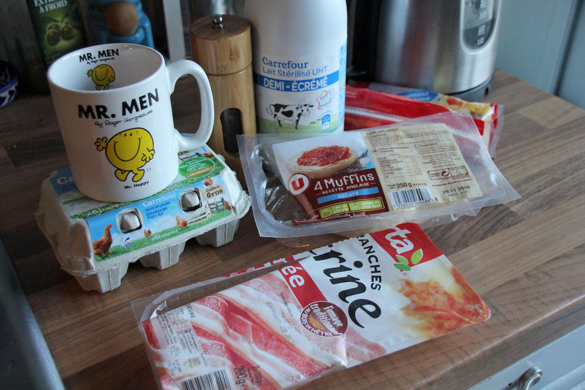 Scrambled egg ingredients