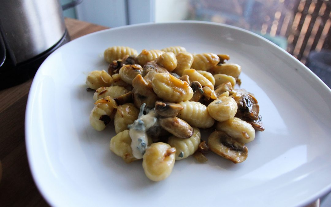 Gnocchi with Blue Cheese and Mushrooms
