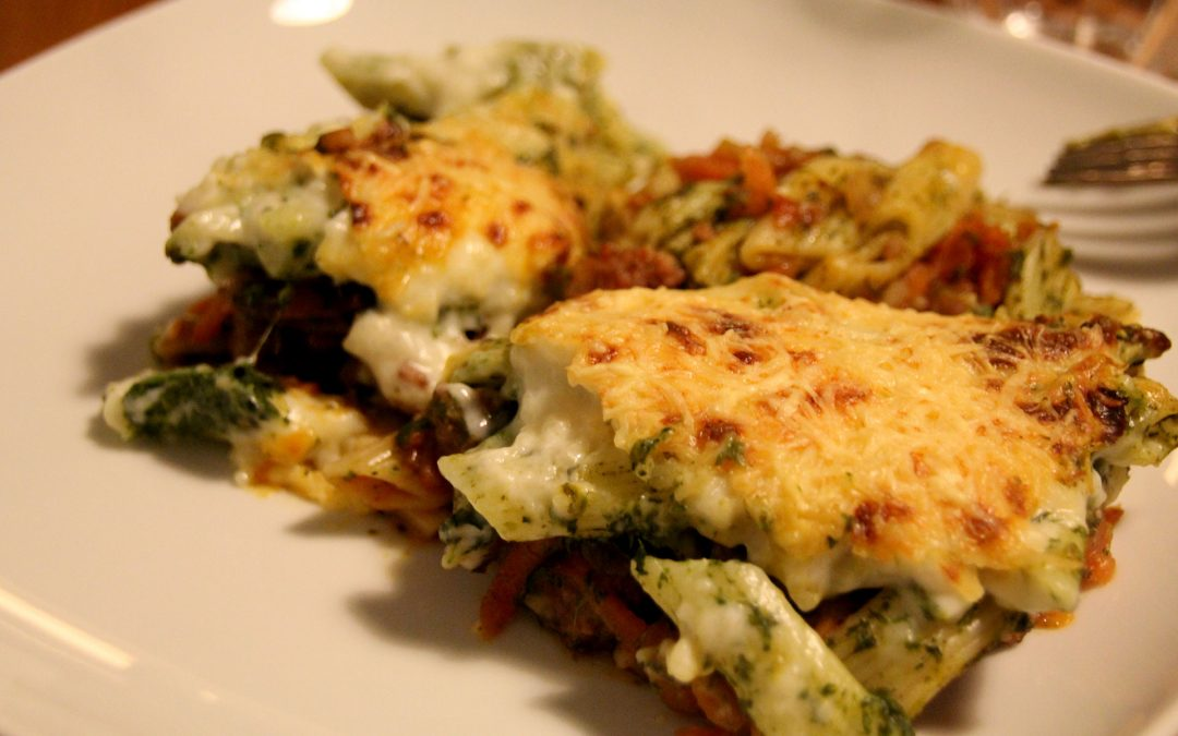 Spinach and Sausage Pasta Bake